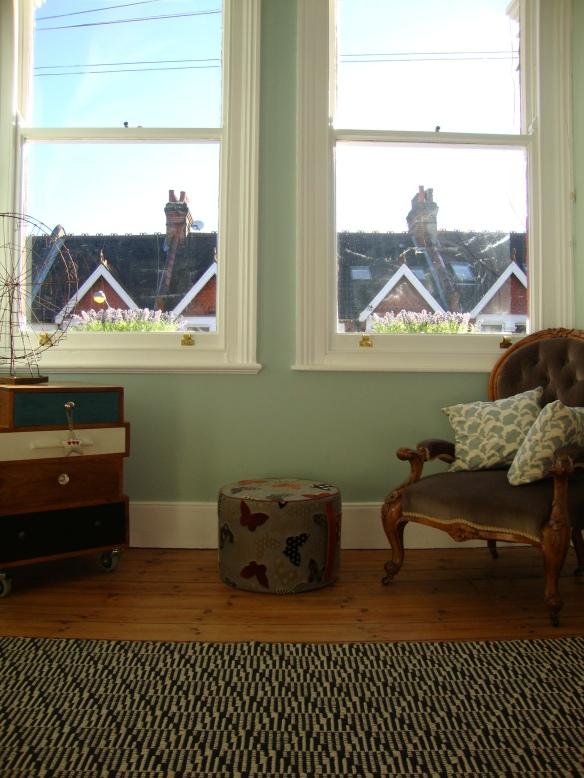 Vintage Eclectic Deco Flea Market Bazaar Bohemian Living Room.