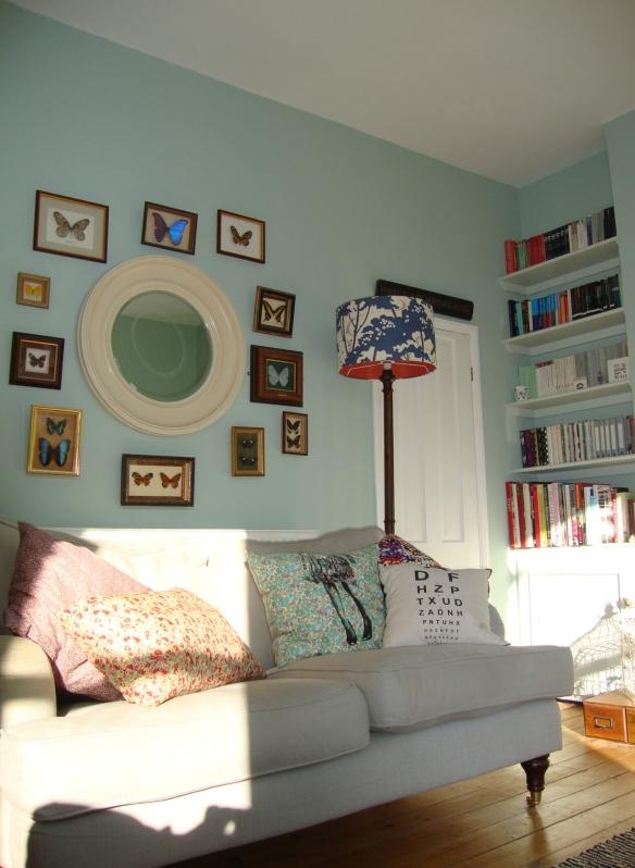 Vintage Eclectic Deco Flea Market Bohemian Living Room, Entomology, Liberty of London