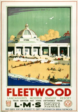 London Midland & Scottish Railway travel poster. Fleetwood