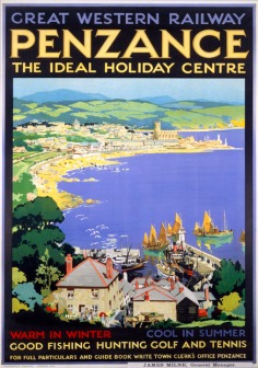 Penzance, The Ideal Holiday Centre, Cornwall. GWR Vintage Travel