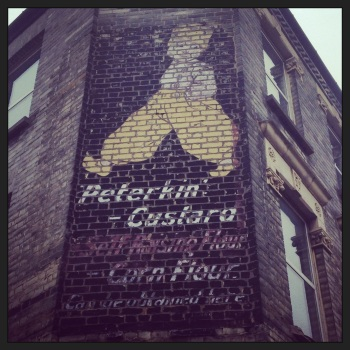 Peterkin Custard Painted Building Vintage advert
