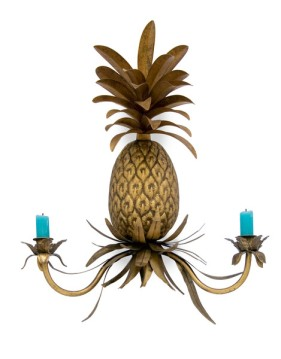 pineapple wall sconce by Caravan at Abigail ahern