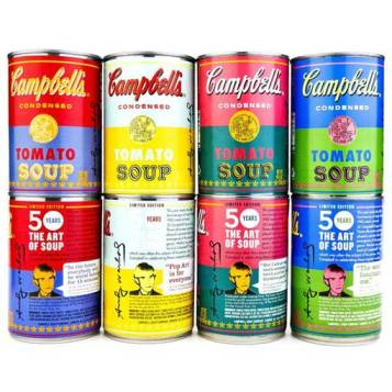 Campbells limited ediotion andy warhol soup