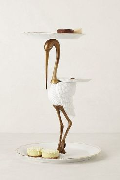 Gilded Crane Stand #anthropologie