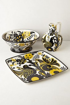 Hand-Painted Taiga Serveware #anthropologie