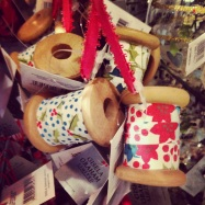 Liberty London Store Christmas 2013 Gisella Graham Fabric Sppol Sewing Reel Decoration