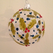 Liberty London Store Christmas 2013 Gisella Graham Painted Holly Glass bauble