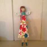 Liberty London Store Christmas 2013 Gisella Graham Retro Peg Fairy Decoration