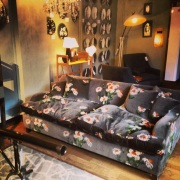 Liberty London Store Shop Floor Patterned Sofa & Telescope 2013