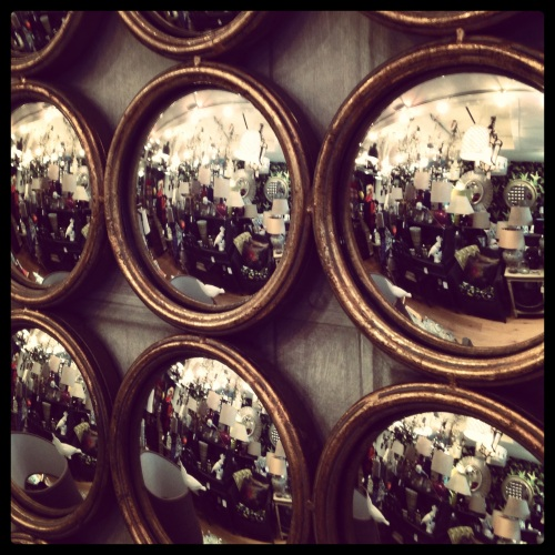Paint House Northcote Rd Convex Vintage Mirrors