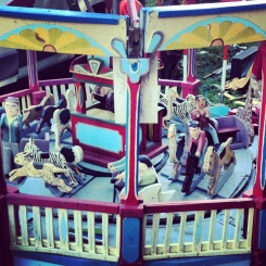 Vintage Wooden Carousel Fairground Ride Circus 1