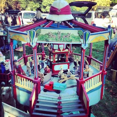 Vintage Wooden Carousel Fairground Ride Circus 2