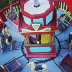 Vintage Wooden Carousel Fairground Ride Circus.