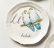 Anthropologie Lovebirds Canopy plate