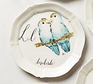 Anthropologie Lovebirds Canopy plate