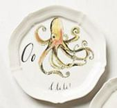 Anthropologie Octopus Canopy plate