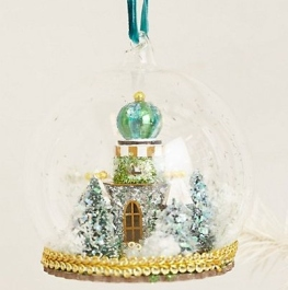 Anthropologie Snow Globe Christmas  Decoration1