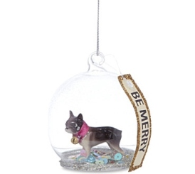 French Bulldog Sequined bauble Selfridges