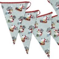 Vintage Christmas fabric bunting