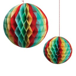 Vintage paper ball decoration graham and green