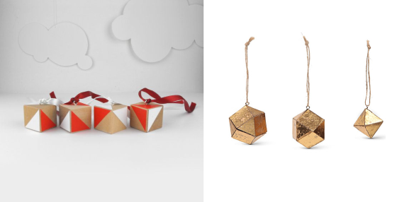 Geometric Bauhaus Christmas Baubles